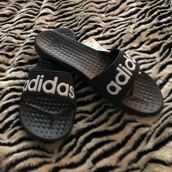 a111c9750ecb Women s Adidas Carodas Black Slides AQ2149